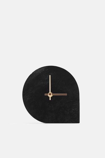 AYTM Marble Table Clock - Black