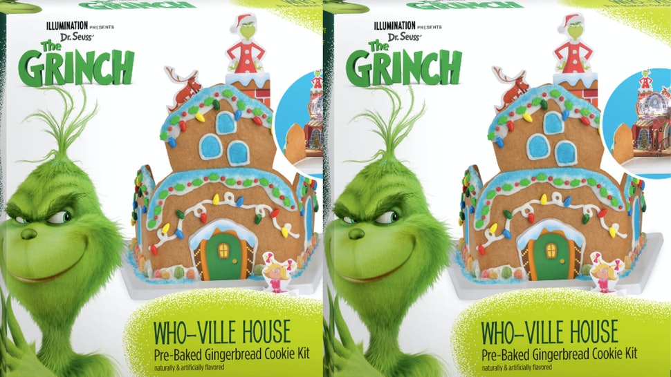 This Grinch Themed Who Ville Gingerbread House At Walmart Is