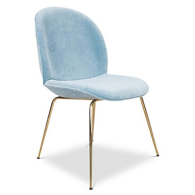 Hank Side Chair, Blue Velvet