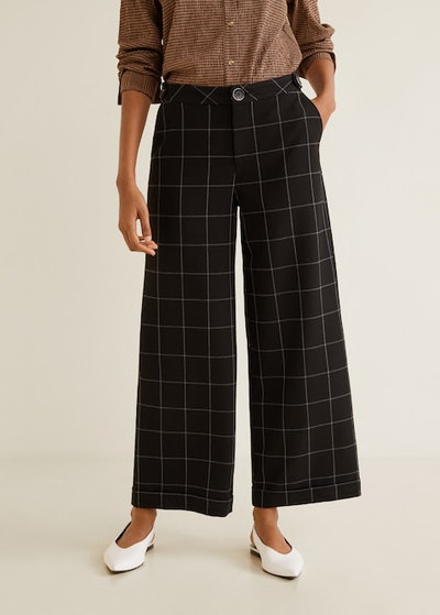Check Flare Trousers