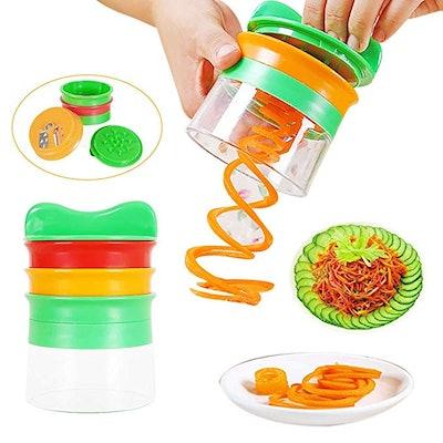 JDgoods Handheld Spiral Vegetable Cutter