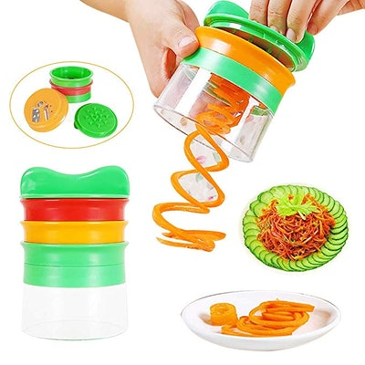 JDgoods Handheld Spiral Vegetable Cutter