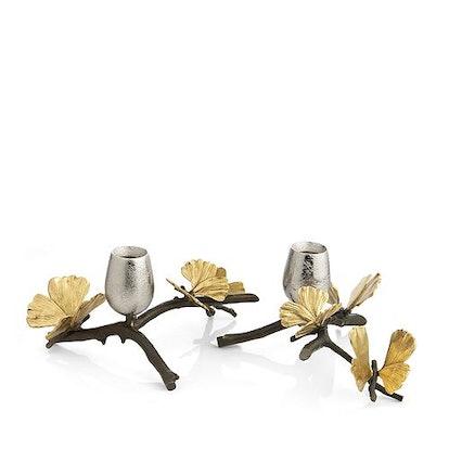 Michael Aram Butterfly Gingko Candleholder, Set of 2