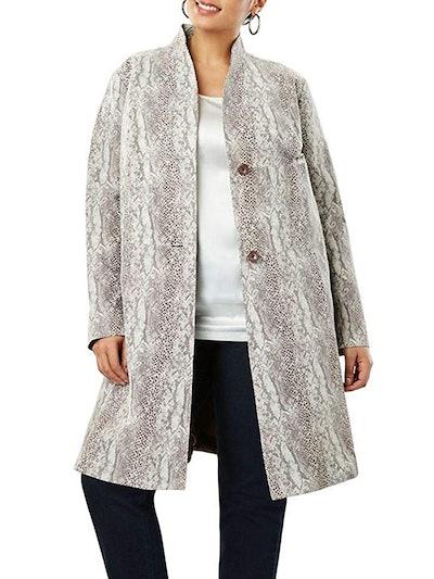 Leather Swing Coat