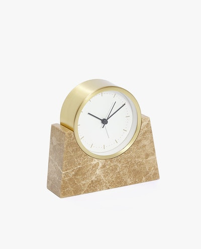 Tabletop Clock With Marble Stand