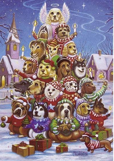 Canine Christmas Tree Advent Calendar