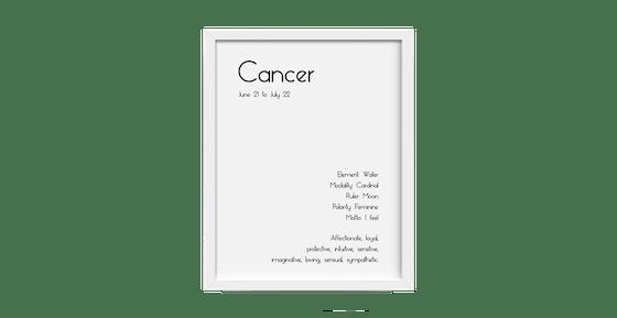 Zodiac Description Poster