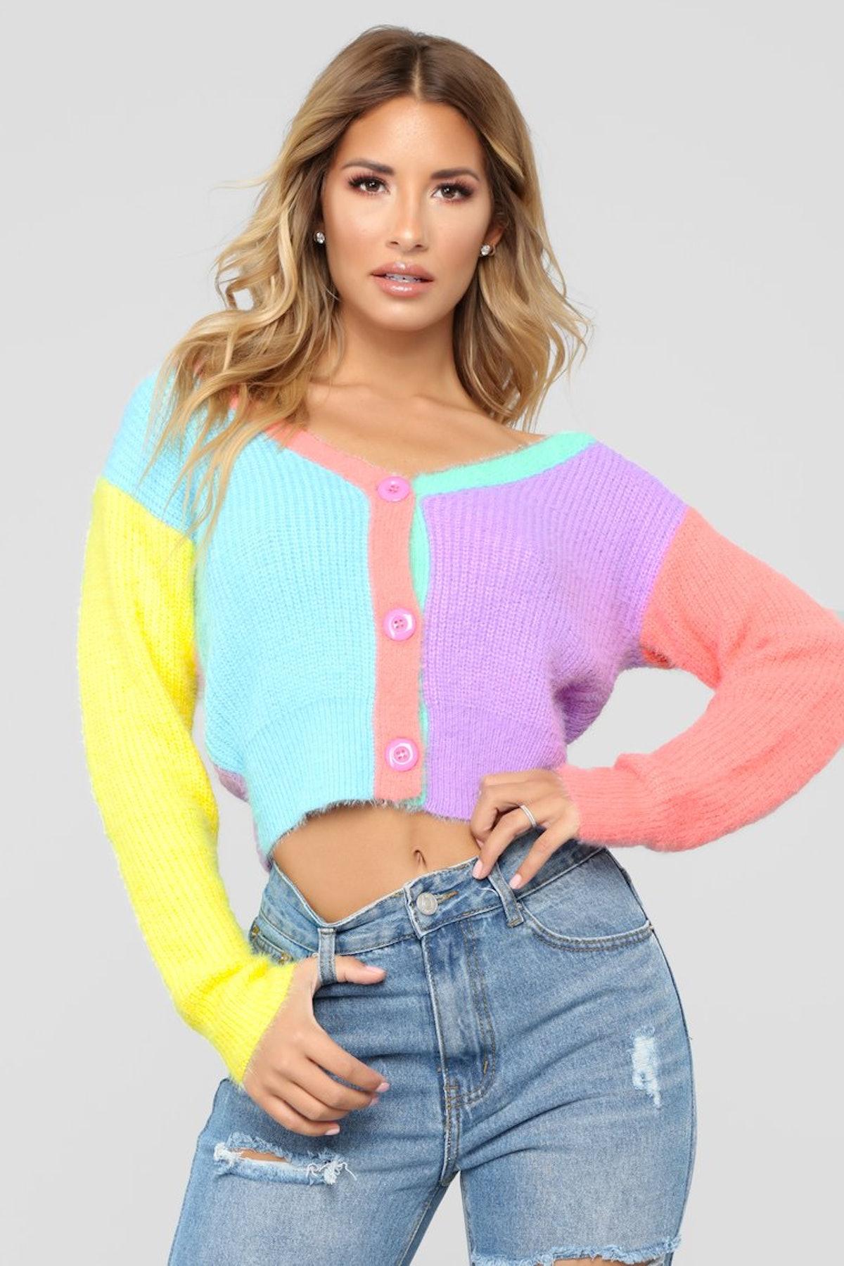 Roll In Color Sweater - Multicolor