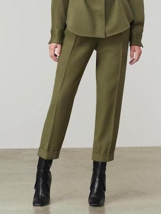 High Waist Pleat Trouser