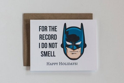 'Batman Smells' Card