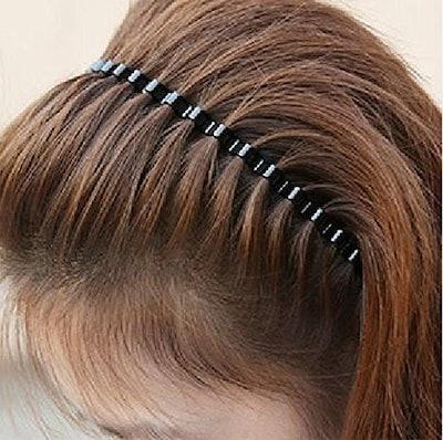 ReNext Unisex Black Metal Hair Band