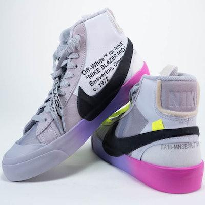 Michelle Beadle Size 6 Nike Blazer Mid Serena Williams x Off White, by Virgil Abloh