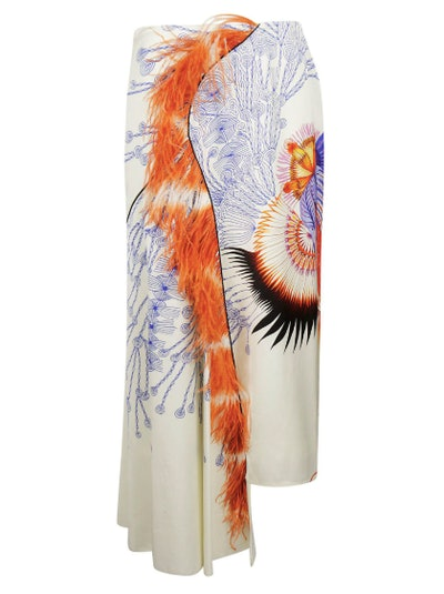Feather Printed Skirt