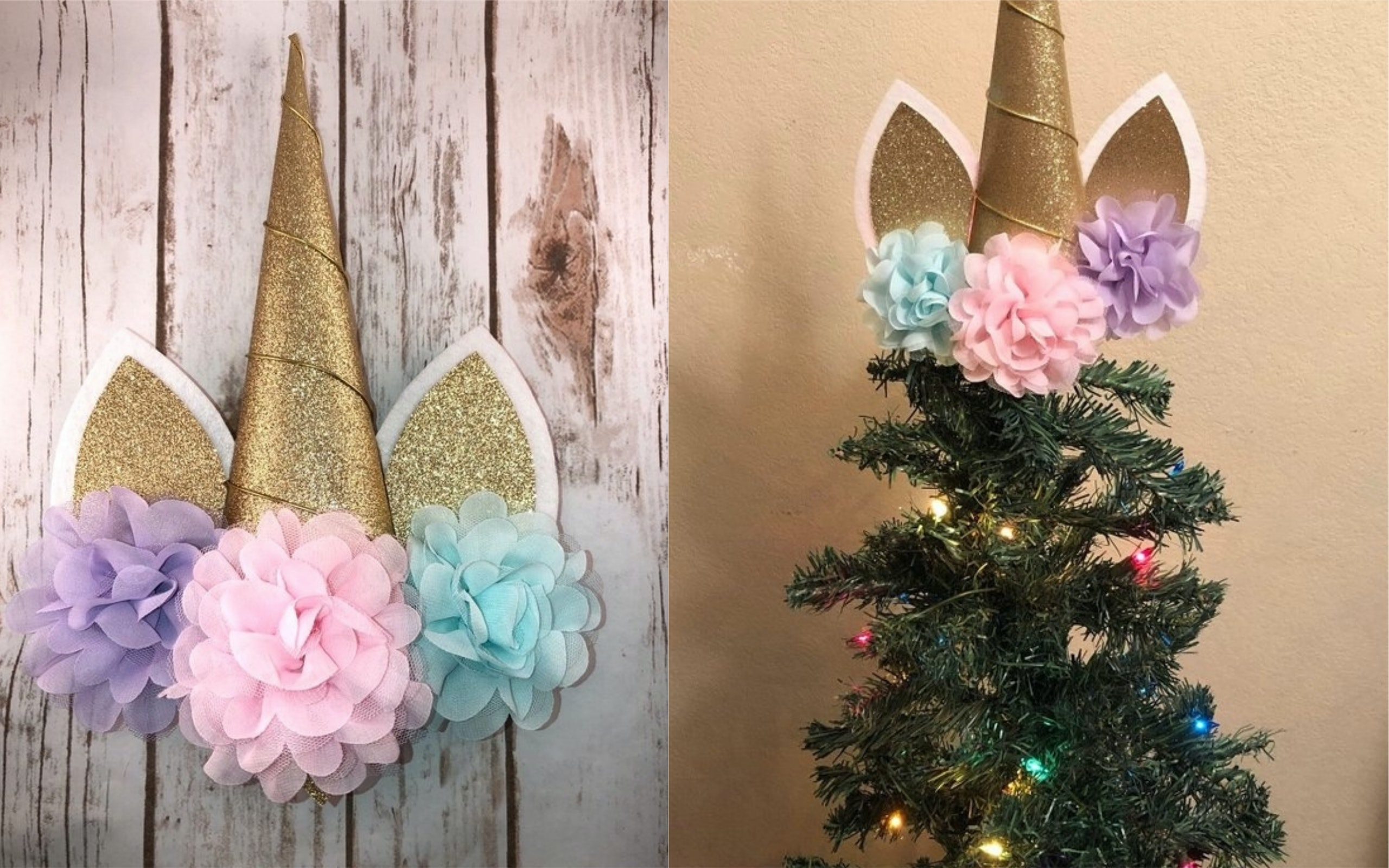 Christmas Tree Toppers.Unicorn Christmas Tree Toppers Will Turn Your Tree Into A
