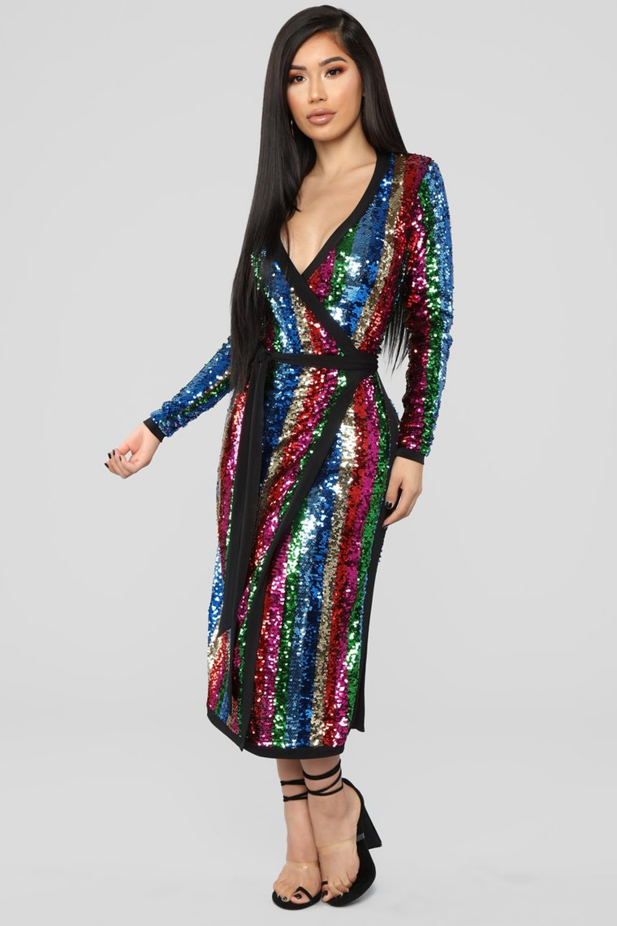 The Show Must Go On Sequin Dress - MultiColor