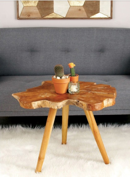 DecMode Teak Wood Accent Table