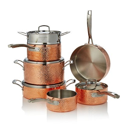Cuisinart Hammered Copper Triply 11-Piece Set - 100% Exclusive