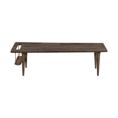 Fundamentals Teak Finish Rectangular Cocktail Table