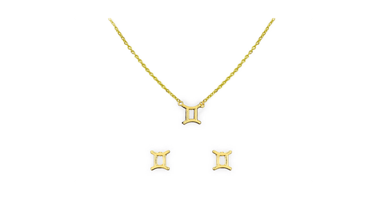 Kitsch Zodiac Necklace And Earrings Set