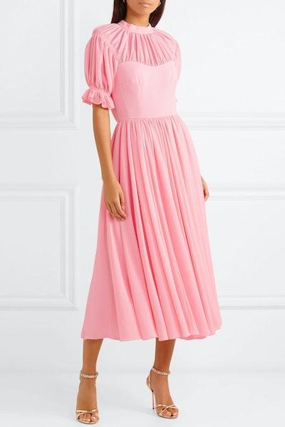 Philly Pleated Cloqué Midi Dress
