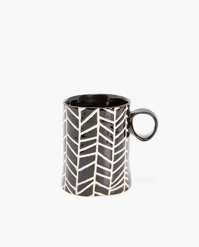 Geometric Stoneware Mug