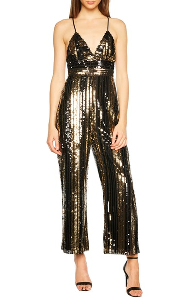 Goldie Sequin Stripe Jumpsuit