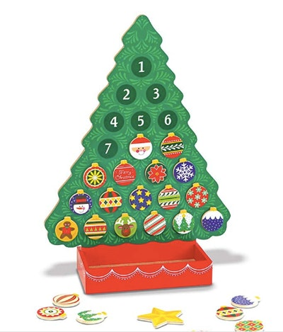 Melissa & Doug Countdown to Christmas Wooden Advent Calendar Magnetic Tree