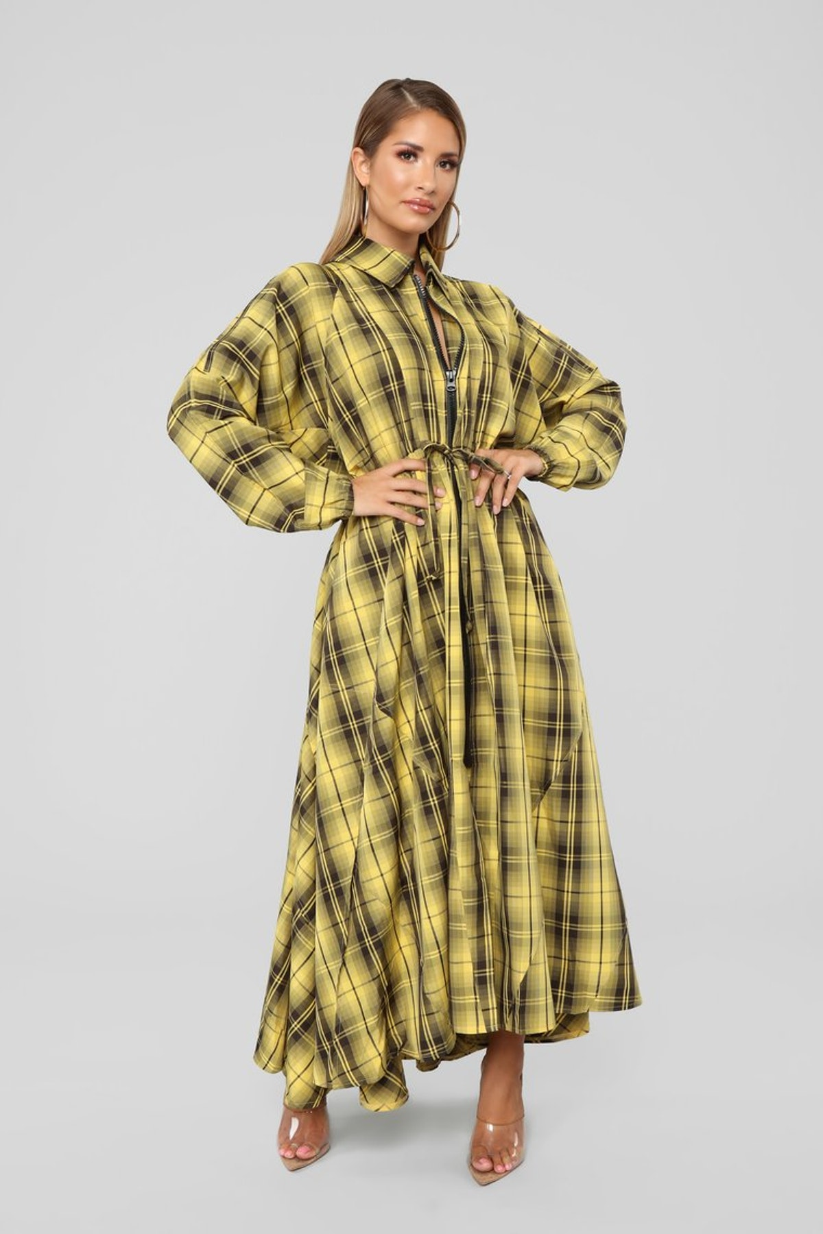 Better Than Expected Plaid Maxi Dress