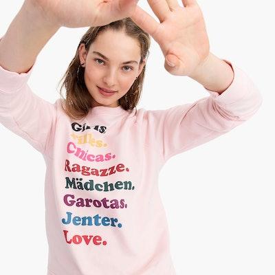 "J.Crew x Girls Inc. ""Girls"" Sweatshirt"