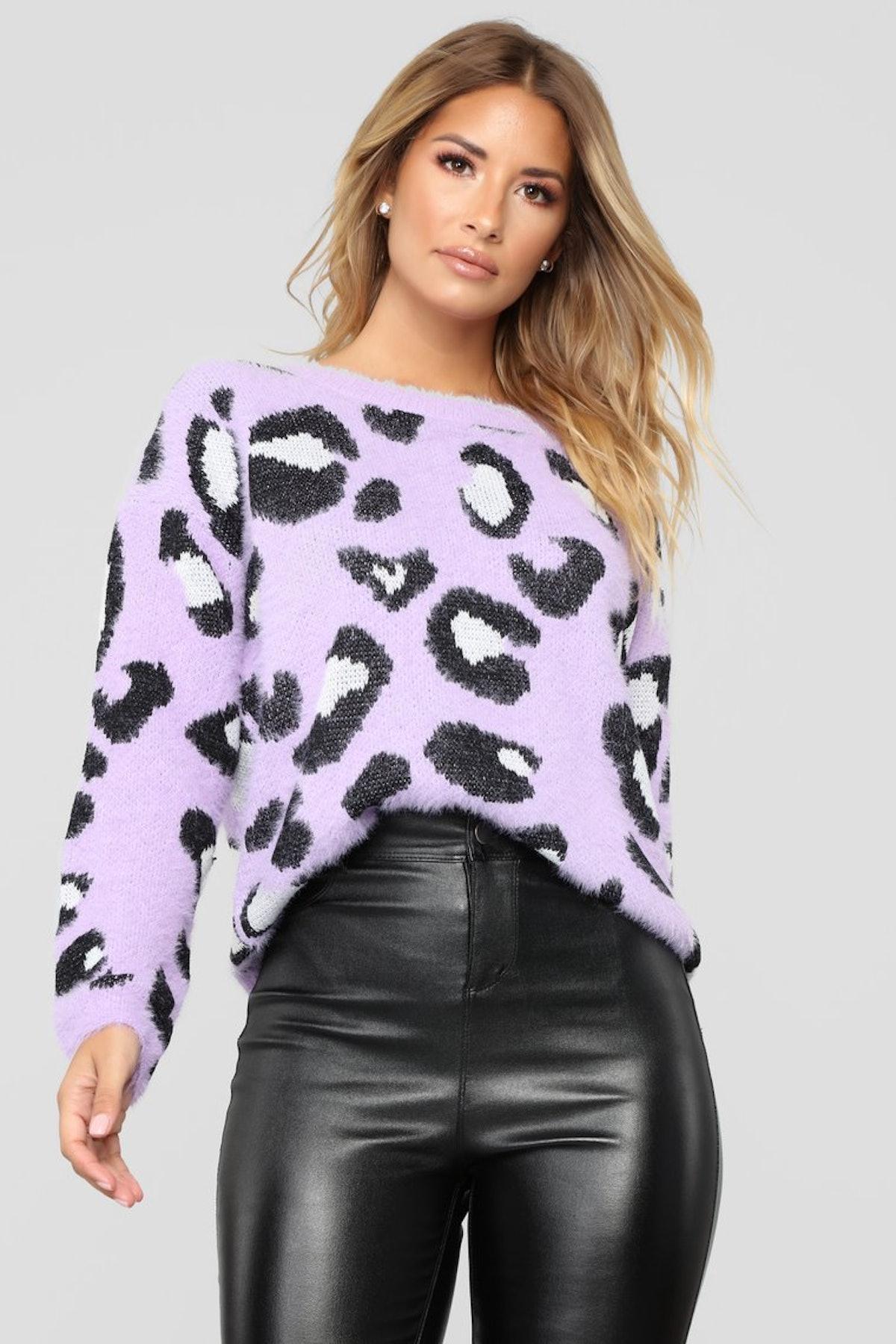 Let's Get Wild Sweater - Purple