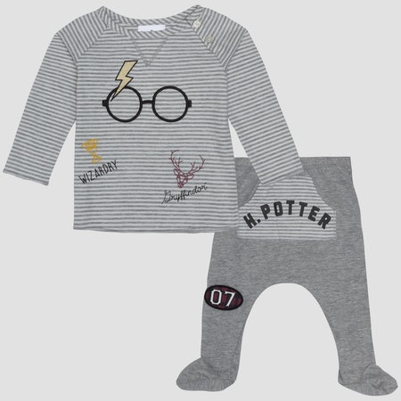Harry Potter Long Sleeve T-Shirt and Footed Joggers