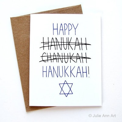 'Hanukkah' Card