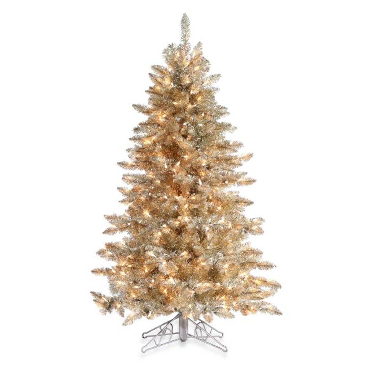 7 1/2-Foot Hard Needle Frosted Pre-Lit Artificial Columbus Pine Tree