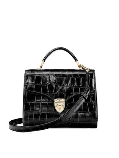 Midi Mayfair Bag In Deep Shine Black