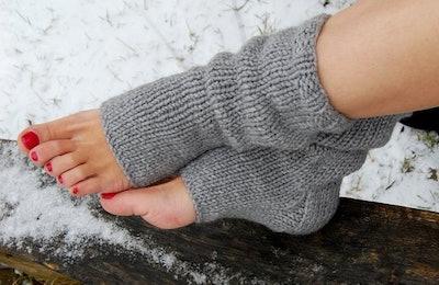Flip Flop Toeless Heel Socks