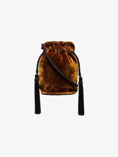 Gold Tula Velvet Tassel Pouch