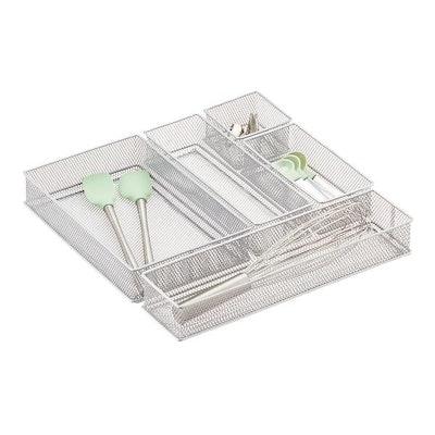 Silver Mesh Drawer Organizer Set