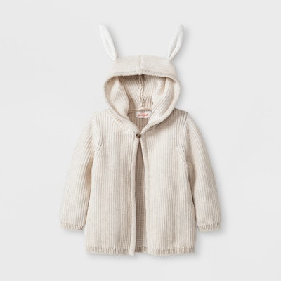 Cardigan Sweater with Bunny Ears