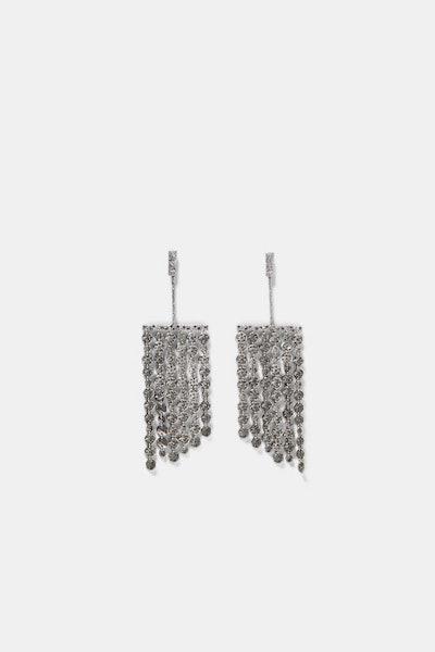 Metallic Fringed Earrings