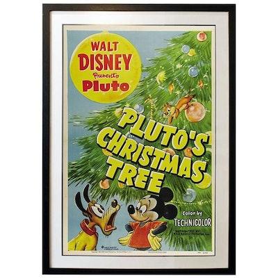 """Pluto's Christmas Tree"" Film Poster, 1952"