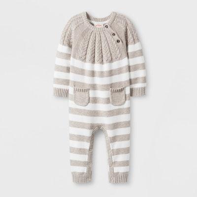 Striped Sweater Romper