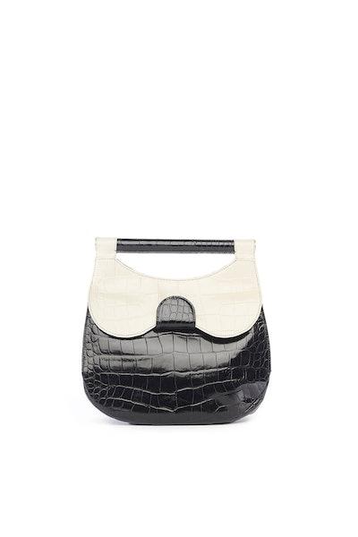 Two-Tone Croc-Effect Bag