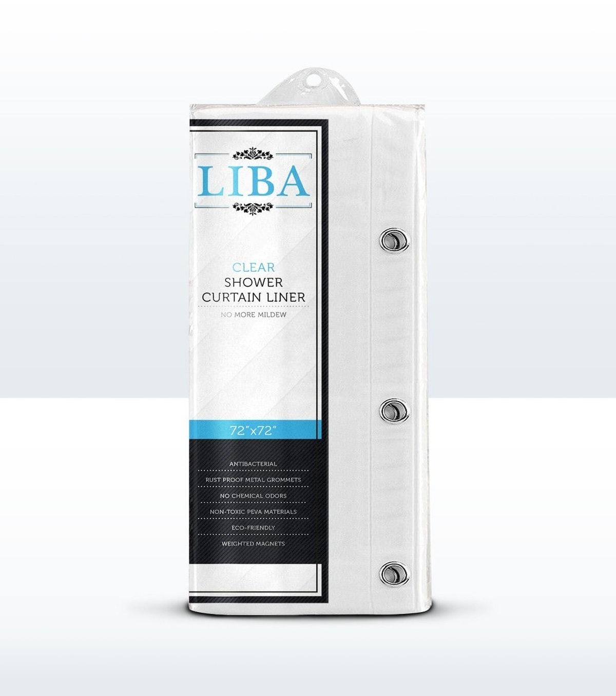 LiBa Antibacterial Shower Curtain