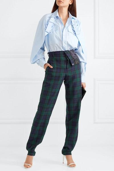 Asymettric Plaid Pants