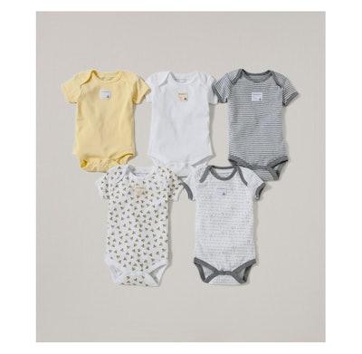 Short Sleeve Bodysuit Set (5 Pack)