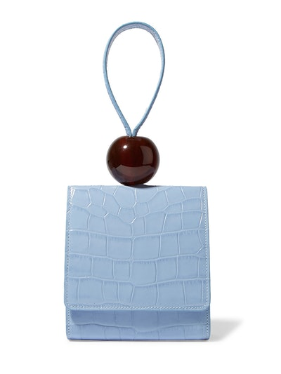 Ball Croc-Effect Leather Tote