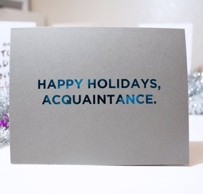 'Acquaintance' Card
