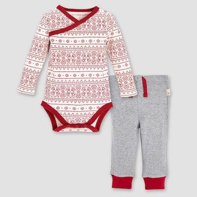 Fair Isle Kimono Bodysuit & Pants