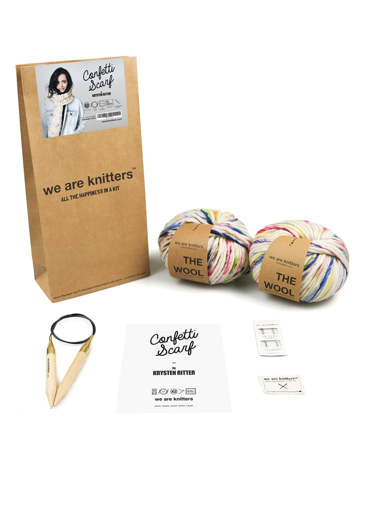 We Are Knitters Confetti Scarf Knitting Kit