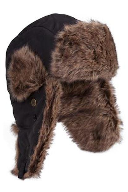 Furry Hat - Black